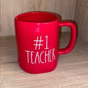 Rae Dunn #1 TEACHER COFFEE MUG / CUP